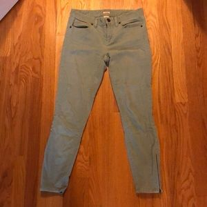 Jcrew 27 toothpick ankle length pants